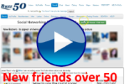 Search and find friends over 50 on Buzz50 video