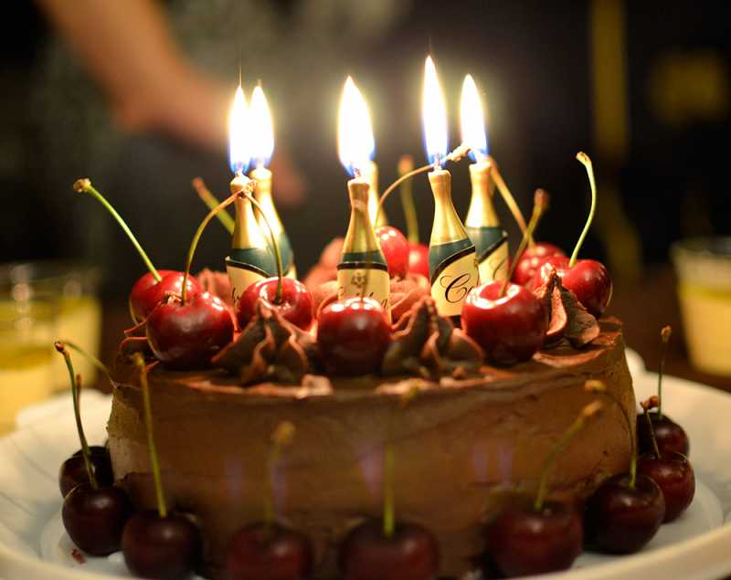 Images Of Birthday Chocolate Cakes With Candles